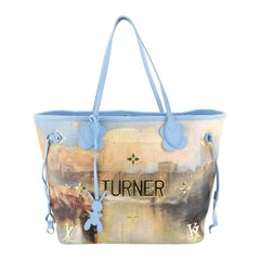 Louis Vuitton Neverfull NM Tote Limited Edition Jeff Koons Turner Print Can