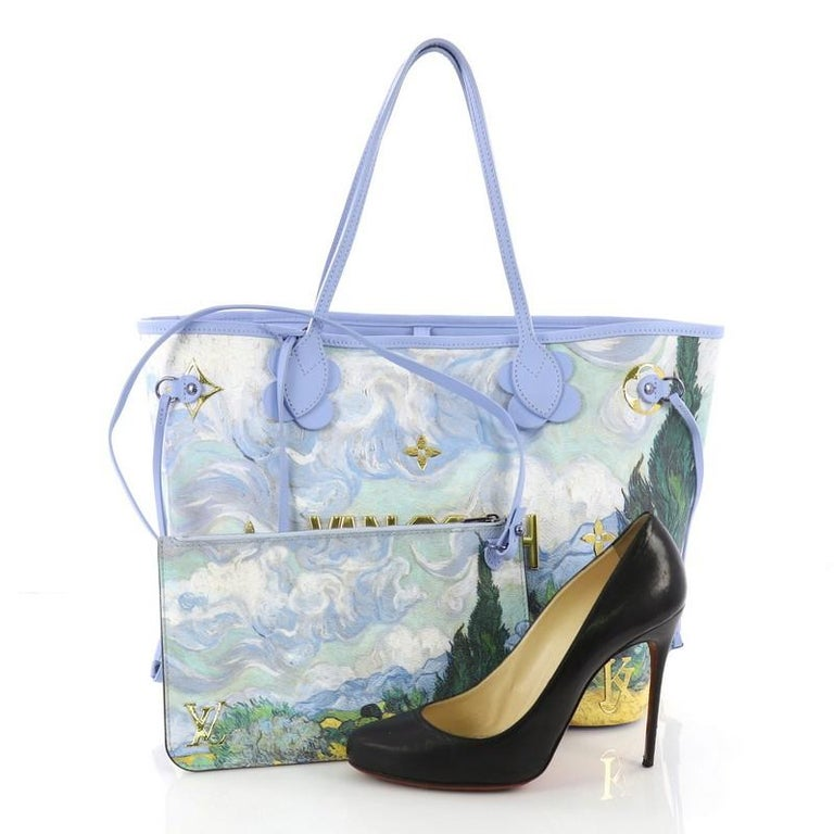 95aabc0ba22c This Louis Vuitton Neverfull NM Tote Limited Edition Jeff Koons Van Gogh  Print Canvas MM
