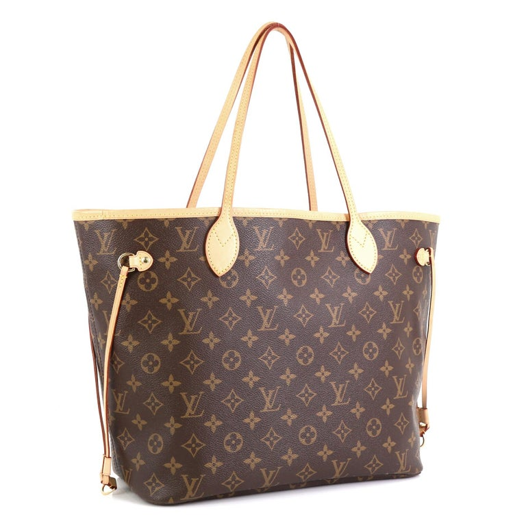 Brown Louis Vuitton Neverfull NM Tote Monogram Canvas MM