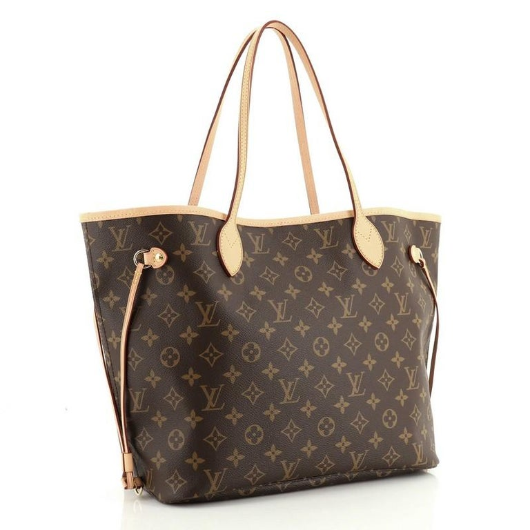Black Louis Vuitton Neverfull NM Tote Monogram Canvas MM For Sale