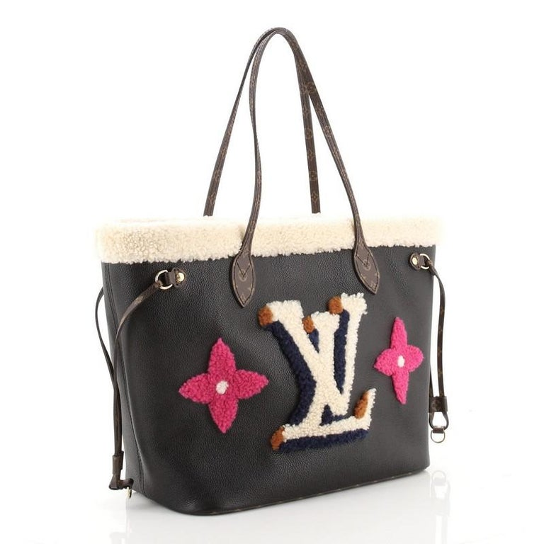 Black Louis Vuitton Neverfull NM Tote Monogram Teddy MM For Sale