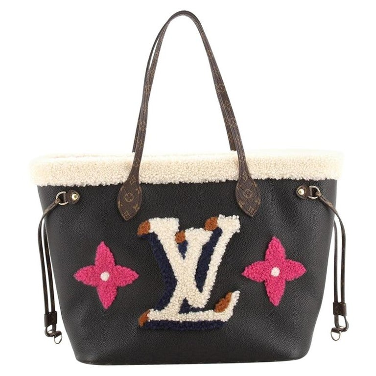 Louis Vuitton Neverfull NM Tote Monogram Teddy MM For Sale