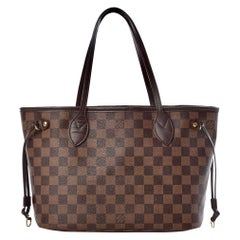 Louis Vuitton Neverfull PM Tote Bag - Damier Ebene   Canvas , Red Interior