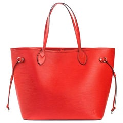 LOUIS VUITTON Neverfull Shoulder bag in Red Leather