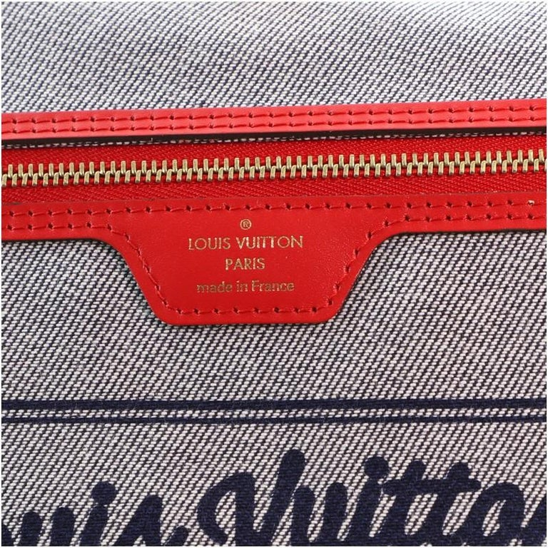 Louis Vuitton Neverfull Tote Damier and Monogram Patchwork Denim MM For Sale 3