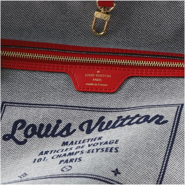 Louis Vuitton Neverfull Tote Damier and Monogram Patchwork Denim MM For Sale 2