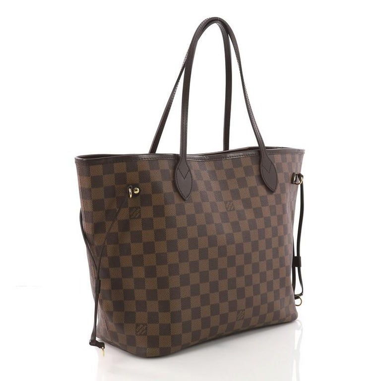 Black Louis Vuitton Neverfull Tote Damier MM For Sale