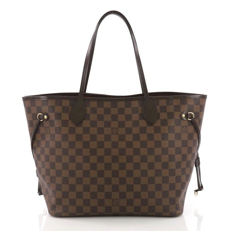 Louis Vuitton Neverfull Tote Damier MM In Excellent Condition For Sale In New York, NY