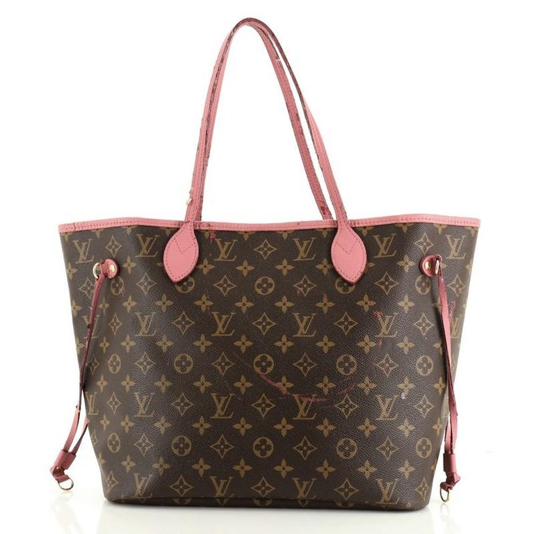 Black Louis Vuitton Neverfull Tote Limited Edition Ikat Monogram Canvas MM For Sale
