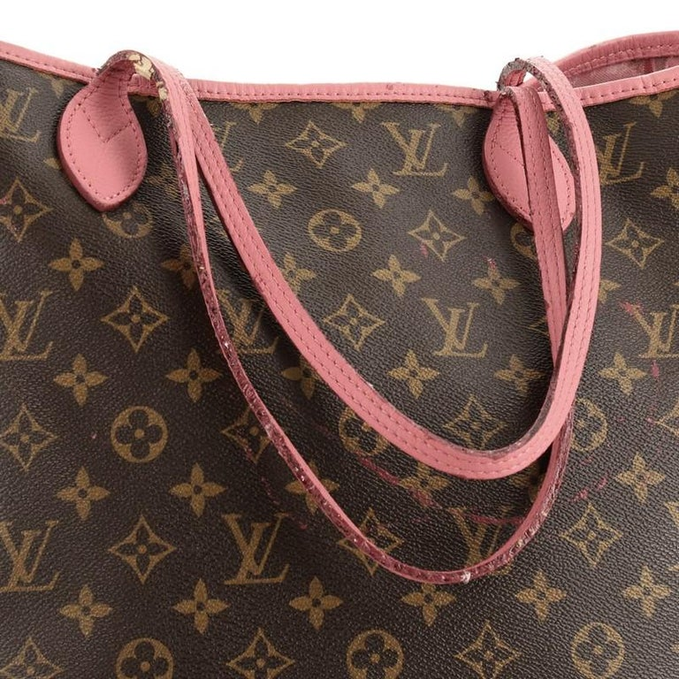 Louis Vuitton Neverfull Tote Limited Edition Ikat Monogram Canvas MM For Sale 1