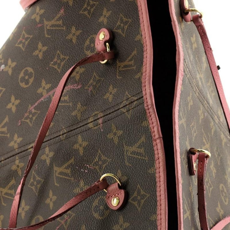 Louis Vuitton Neverfull Tote Limited Edition Ikat Monogram Canvas MM For Sale 3