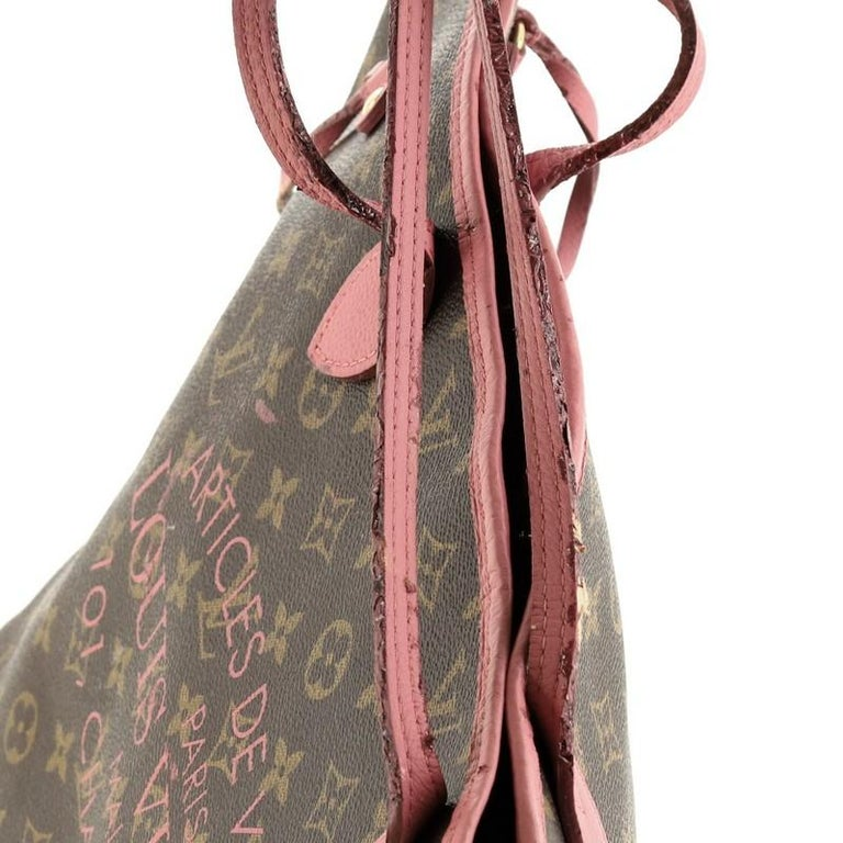 Louis Vuitton Neverfull Tote Limited Edition Ikat Monogram Canvas MM For Sale 4