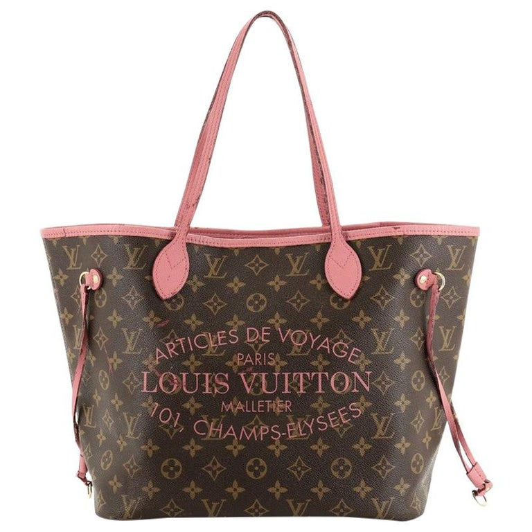 Louis Vuitton Neverfull Tote Limited Edition Ikat Monogram Canvas MM For Sale