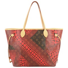 Louis Vuitton Neverfull Tote Limited Edition Kusama Waves Monogram Canvas MM