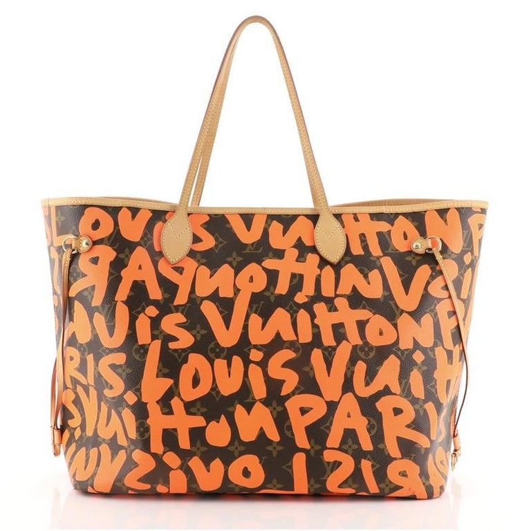 Louis Vuitton Neverfull Tote Limited Edition Monogram Graffiti GM In Good Condition For Sale In New York, NY