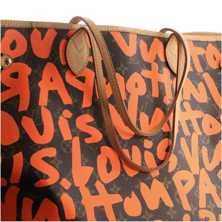 Louis Vuitton Neverfull Tote Limited Edition Monogram Graffiti GM For Sale 2
