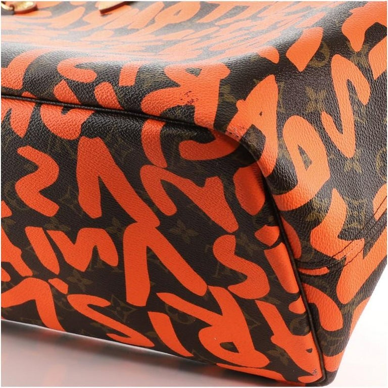 Louis Vuitton Neverfull Tote Limited Edition Monogram Graffiti GM For Sale 3
