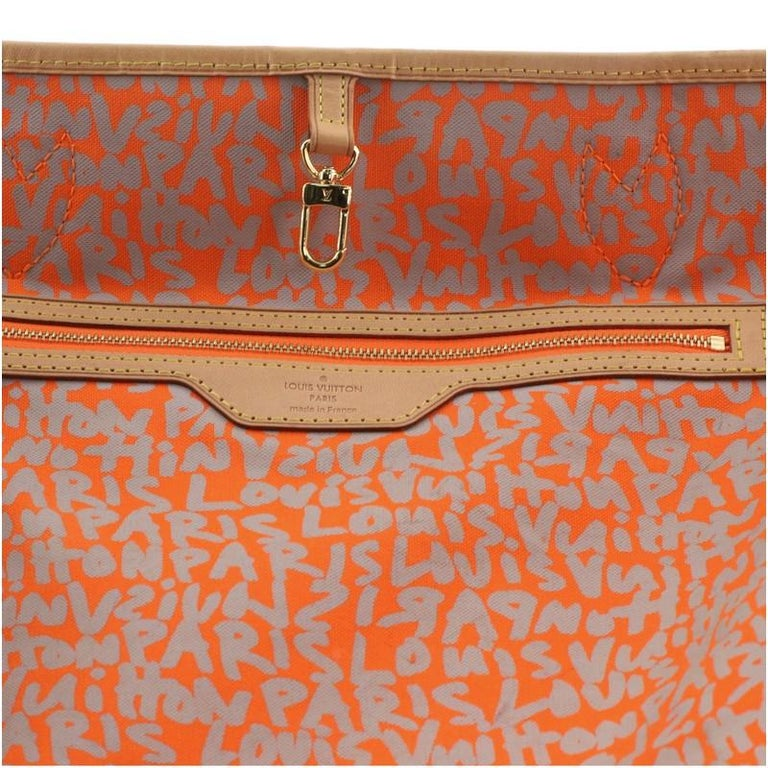 Louis Vuitton Neverfull Tote Limited Edition Monogram Graffiti GM For Sale 4