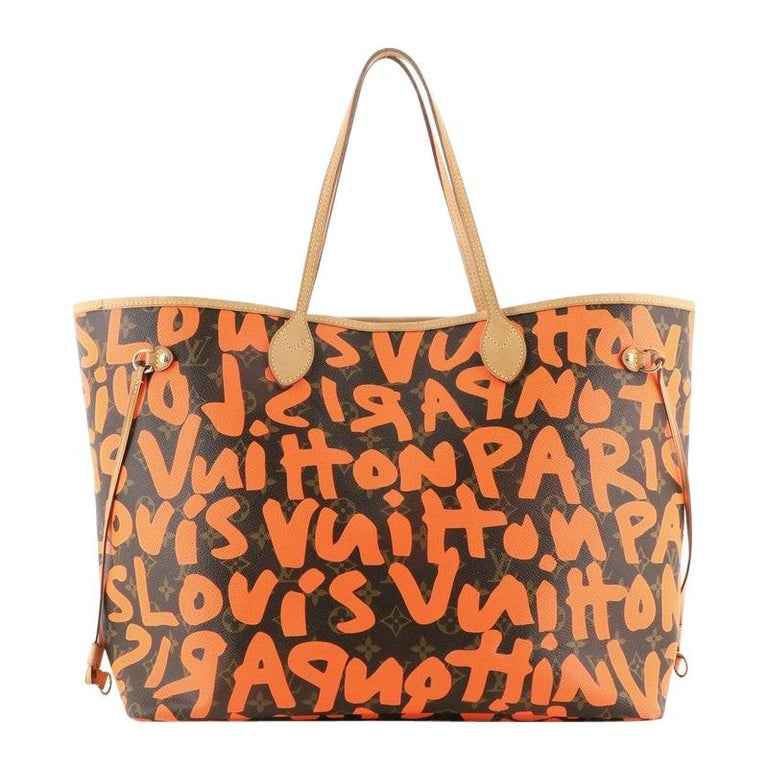 Louis Vuitton Neverfull Tote Limited Edition Monogram Graffiti GM For Sale