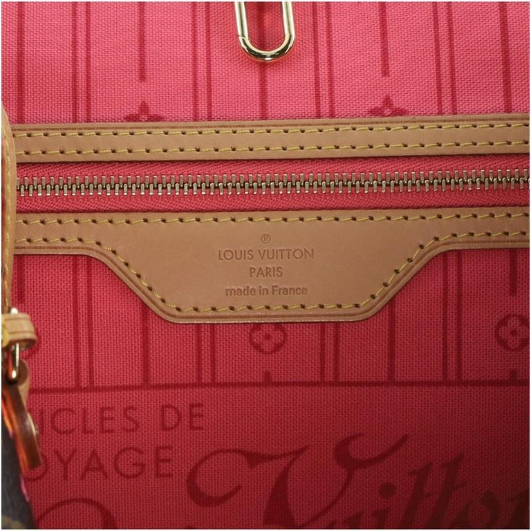 Louis Vuitton Neverfull Tote Limited Edition Monogram Roses MM For Sale 1