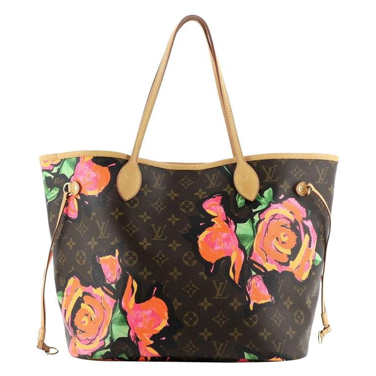 Louis Vuitton Neverfull Tote Limited Edition Monogram Roses MM For Sale