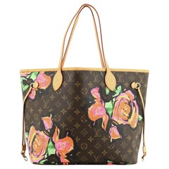 Louis Vuitton Neverfull Tote Limited Edition Monogram Roses MM