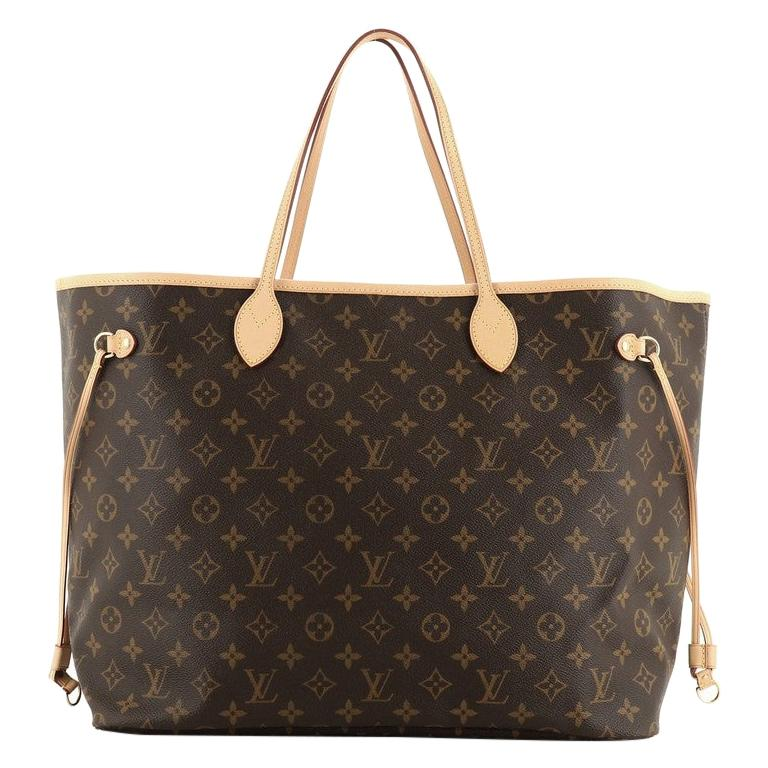 Louis Vuitton Neverfull Tote Monogram Canvas GM For Sale