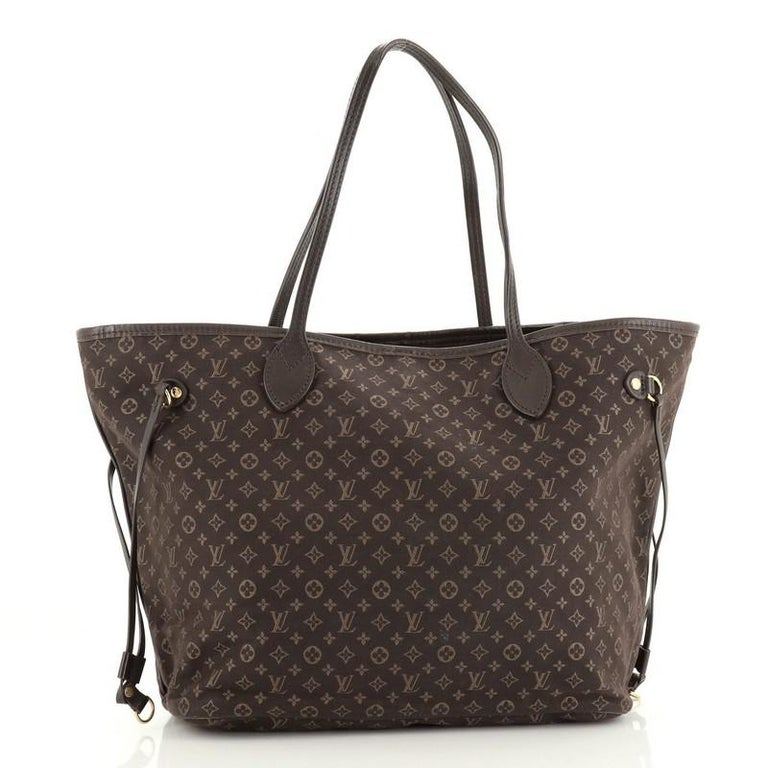 Black Louis Vuitton Neverfull Tote Monogram Idylle MM For Sale