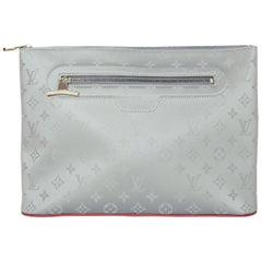 Louis Vuitton NEW 2018 LV Monogram Grey Titanium Pochette Cosmos Bag
