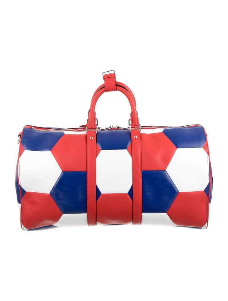 Orange Louis Vuitton NEW Blue Red White Large Carryall Weekender Duffle Men's Bag
