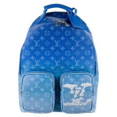 Louis Vuitton NEW Blue White Virgil Men's Women's Carryall Travel Backpack Bag