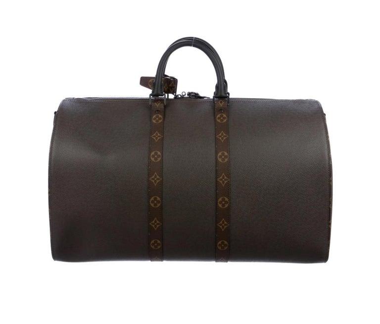 Black Louis Vuitton NEW Brown Men's Women's Carryall Travel Weekender Duffle Bag W/Box For Sale