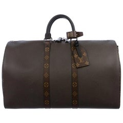 Louis Vuitton NEW Brown Men's Women's Carryall Travel Weekender Duffle Bag W/Box