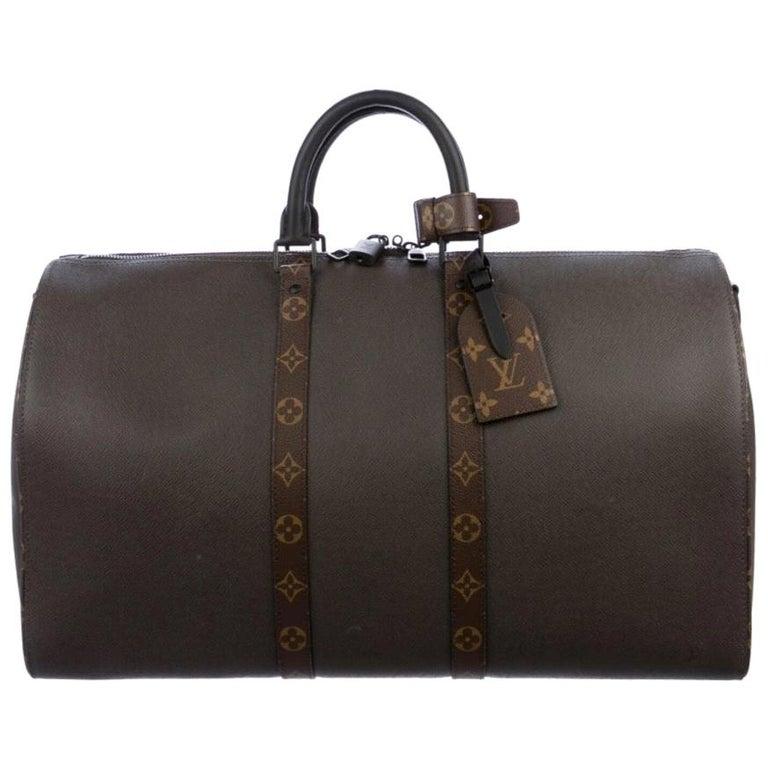 Louis Vuitton NEW Brown Men's Women's Carryall Travel Weekender Duffle Bag W/Box For Sale