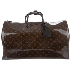 Louis Vuitton NEW Brown Mono Glaze Men's Carryall Travel Weekender Duffle Bag