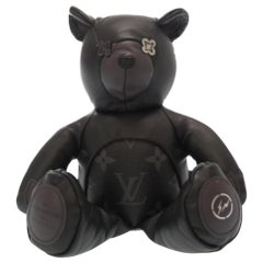 Louis Vuitton NEW Limited Edition Black Leather Toy Novelty Teddy Bear in Box