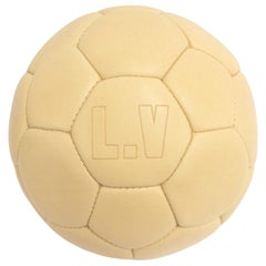 Louis Vuitton NEW LV Leather Men's Women Soccer Ball Leather Carrying Holster