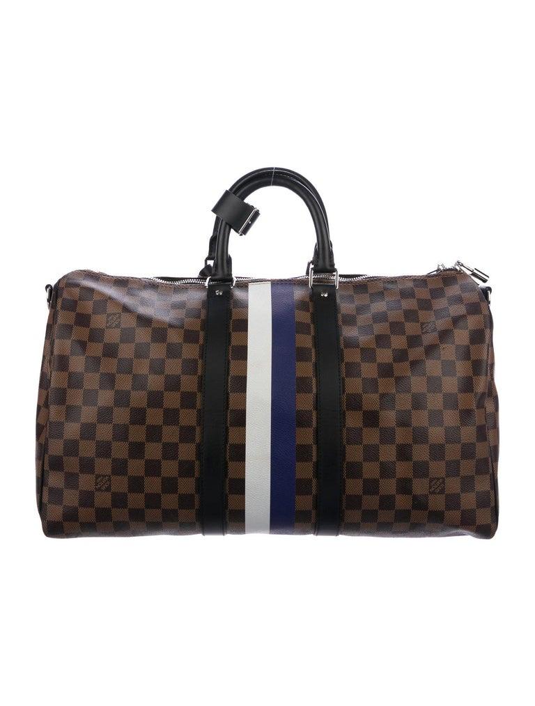 Black Louis Vuitton NEW Monogram Brown Top Handle Men's Travel Duffle Bag