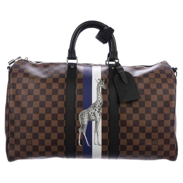Louis Vuitton NEW Monogram Brown Top Handle Men's Travel Duffle Bag