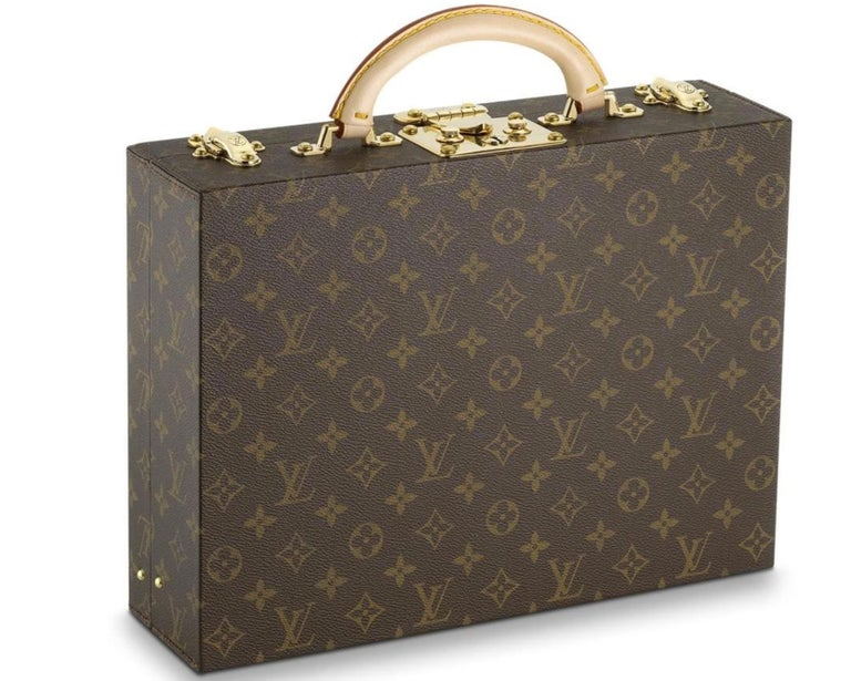 Louis Vuitton NEW Monogram Men's Women's Jewelry Watch Vanity Travel Trunk Case In New Condition For Sale In Chicago, IL