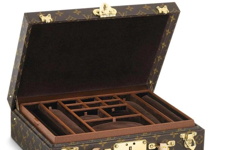 Women's or Men's Louis Vuitton NEW Monogram Men's Women's Jewelry Watch Vanity Travel Trunk Case For Sale