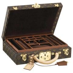 Louis Vuitton NEW Monogram Men's Women's Jewelry Watch Vanity Travel Trunk Case