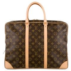 Louis Vuitton NEW Monogram Men's Women's Travel Business Top Handle Tote Bag