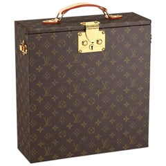 Louis Vuitton NEW Monogram Travel Picnic Wine Crystal Glass Storage Case in Box