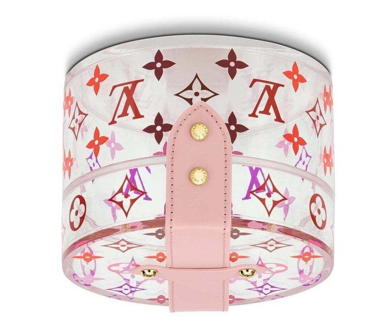 Louis Vuitton NEW Pink Monogram Plexi Leather Vanity Jewelry Trinket Box In New Condition For Sale In Chicago, IL
