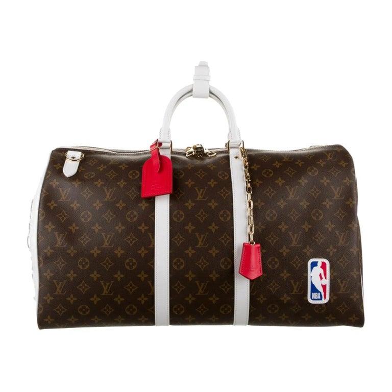 Louis Vuitton NEW Rare Monogram Men's Women's Carryall Travel Weekend Duffle Bag For Sale