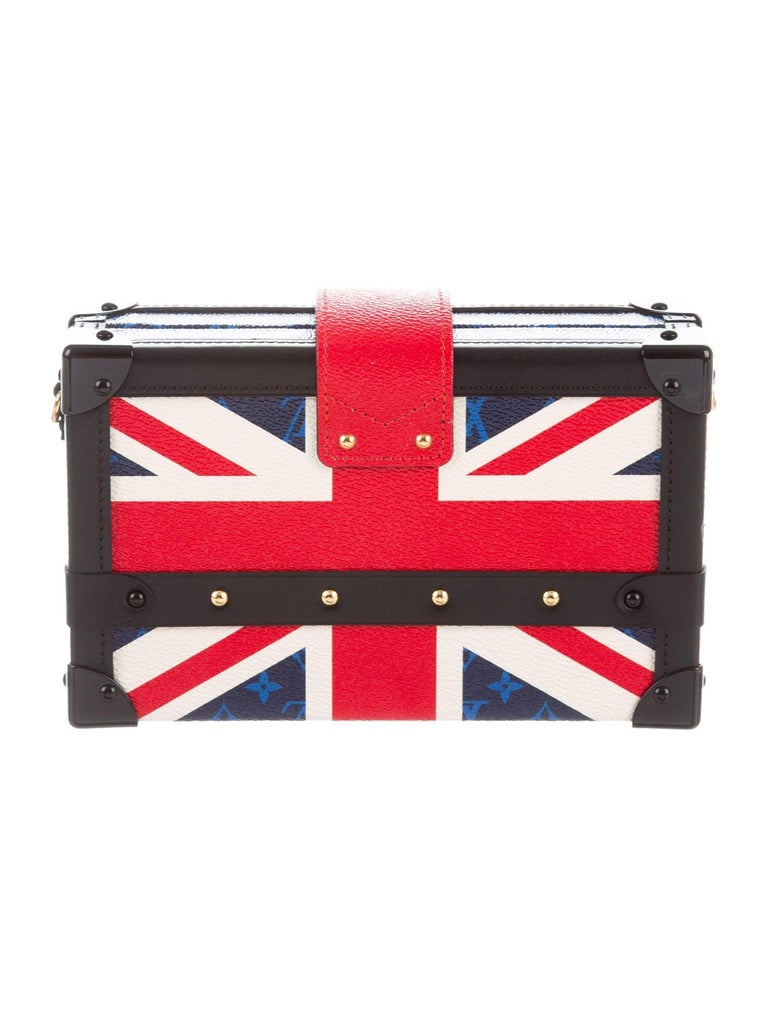 Beige Louis Vuitton NEW Royal Union Jack Evening Small Clutch Shoulder Bag in Box   For Sale