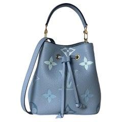 Louis Vuitton NEW Summer Blue Monogram Giant By The Pool Neonoe BB Crossbody Bag