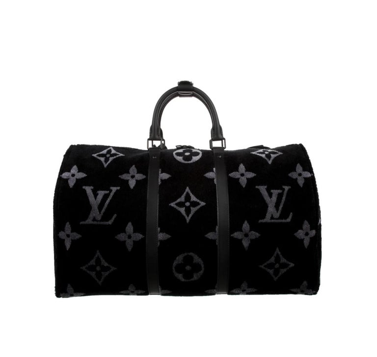 Louis Vuitton NEW Virgil Black SilverTravel Weekender Men's Women's Duffle Bag In New Condition For Sale In Chicago, IL