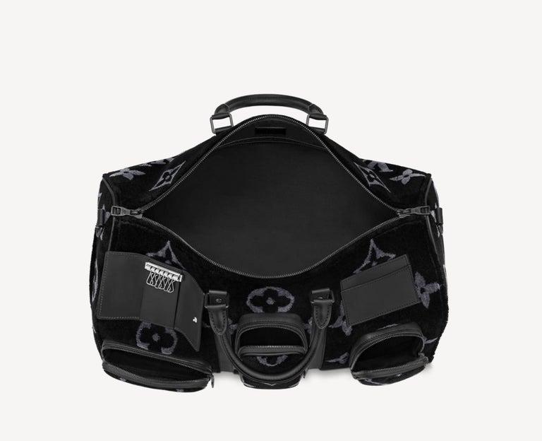 Louis Vuitton NEW Virgil Black SilverTravel Weekender Men's Women's Duffle Bag For Sale 1